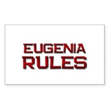 eugenia rules Rectangle Bumper Stickers