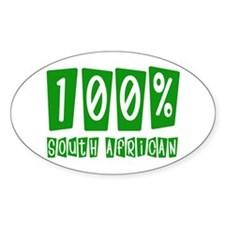 100% South African Oval Decal