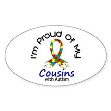 Proud Of My Autistic Cousins 1 Oval Decal