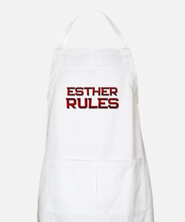 esther rules BBQ Apron