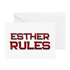 esther rules Greeting Cards (Pk of 10)