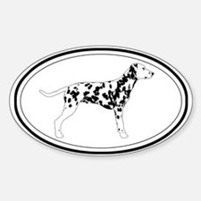Dalmatian Profile Oval Decal