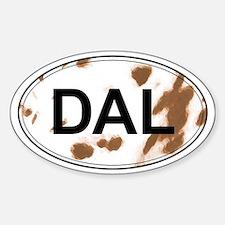 Dalmatian Oval Sticker (Liver & White)