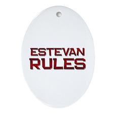 estevan rules Oval Ornament