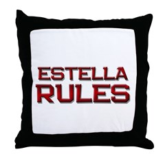 estella rules Throw Pillow