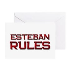 esteban rules Greeting Card