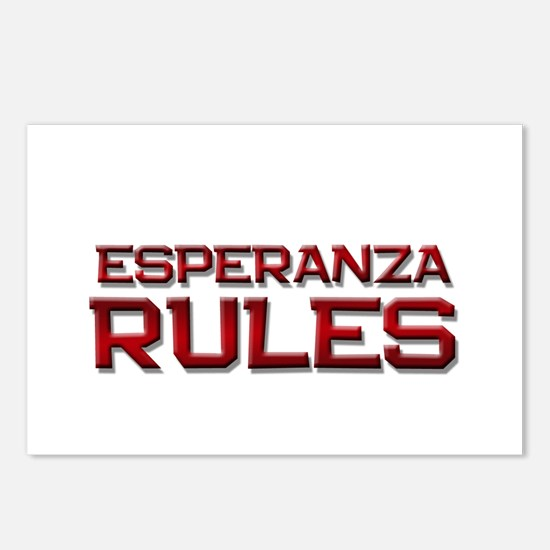 esperanza rules Postcards (Package of 8)