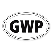 German Wire-haired Pointer (GWP) Oval Bumper Stickers