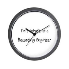 I'm training to be a Recording Engineer Wall Clock