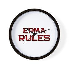erma rules Wall Clock