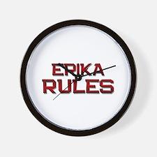 erika rules Wall Clock