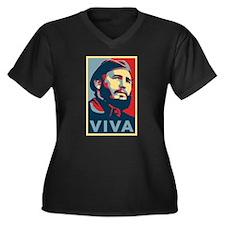 Cool Lenin Women's Plus Size V-Neck Dark T-Shirt