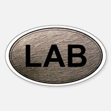 Labrador Retriever Oval Sticker (Chocolate Lab)