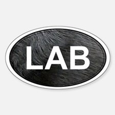 Labrador Retriever Oval Sticker (Black Lab)
