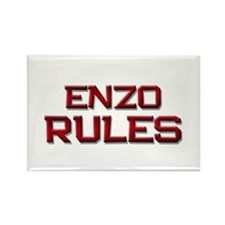 enzo rules Rectangle Magnet