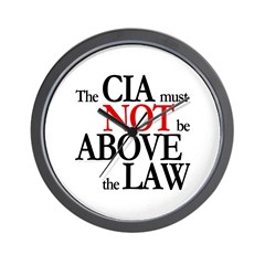 CIA not above law Wall Clock