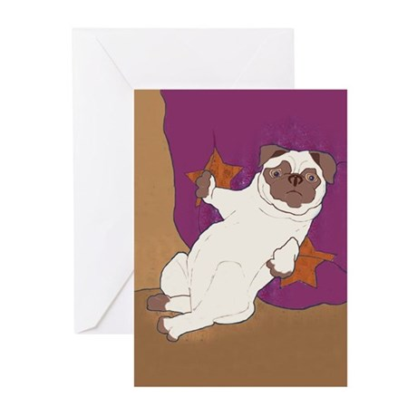 Snug Pug Greeting Cards (6)