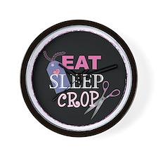 Eat Sleep Crop Wall Clock