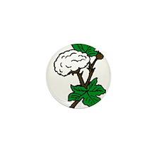 Cotton Plant Mini Button
