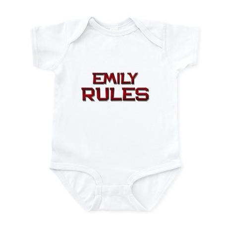 emily rules Infant Bodysuit