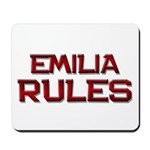 emilia rules Mousepad