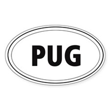 Pug Oval Decal