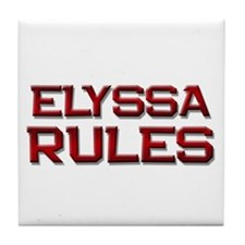 elyssa rules Tile Coaster
