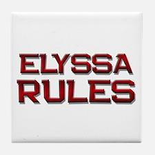 elyssa rules Tile Coaster
