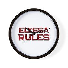 elyssa rules Wall Clock