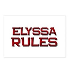 elyssa rules Postcards (Package of 8)