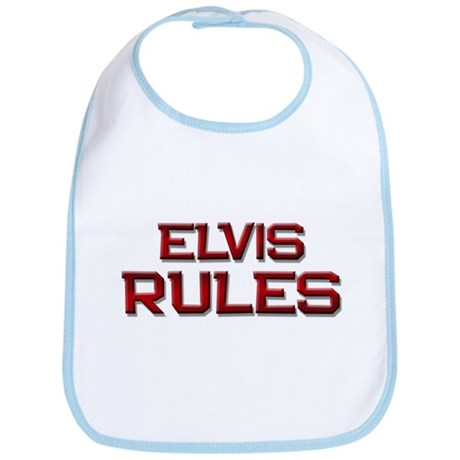 elvis rules Bib