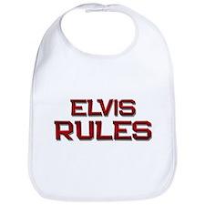 elvis rules Bib