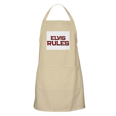 elvis rules BBQ Apron