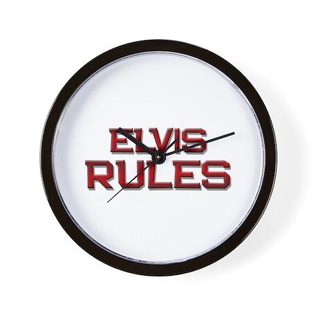 elvis rules Wall Clock