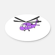 UH-60 Purple.PNG Oval Car Magnet