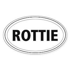 Rottie Oval Bumper Stickers