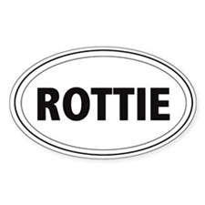 Rottie Oval Decal