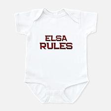 elsa rules Infant Bodysuit