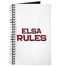 elsa rules Journal