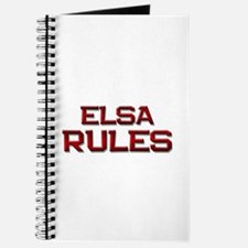 elsa rules Journal