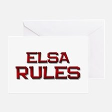 elsa rules Greeting Card