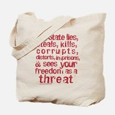 The State Lies Tote Bag
