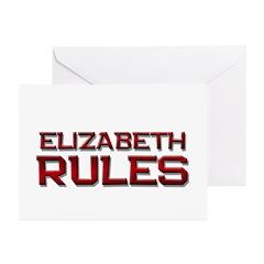 elizabeth rules Greeting Cards (Pk of 10)