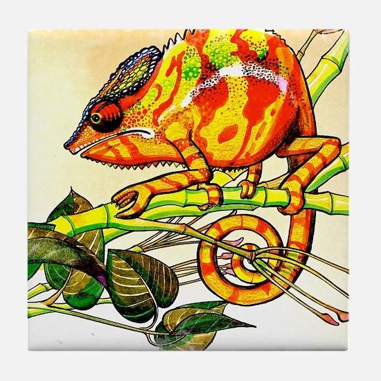 Cool Lizard skin Tile Coaster