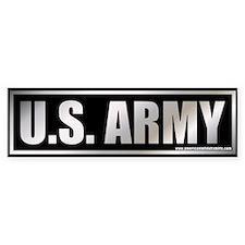 Metalic U.S. Army Bumper Bumper Sticker
