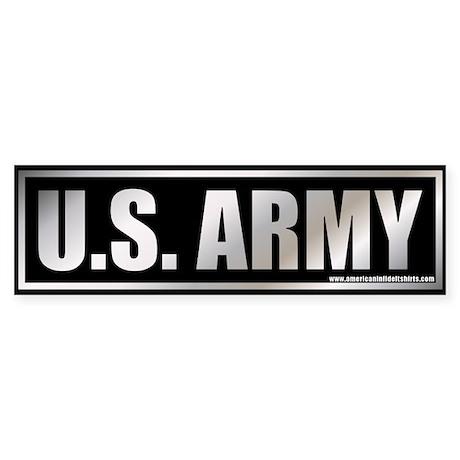 Metalic U.S. Army Bumper Sticker