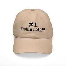 Number One Fishing Mom Baseball Cap