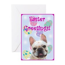 Easter French bulldog Greeting Card(Pk o