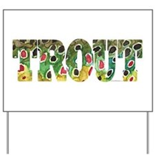 Brown TROUT Yard Sign