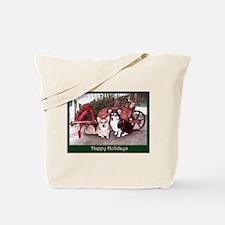 Pembroke Welsh Corgi Holiday Tote Bag